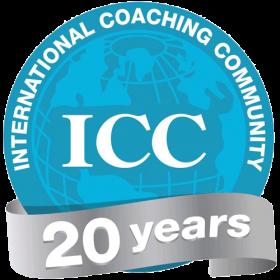 Logotipo International Coaching Community - ICC 20 años